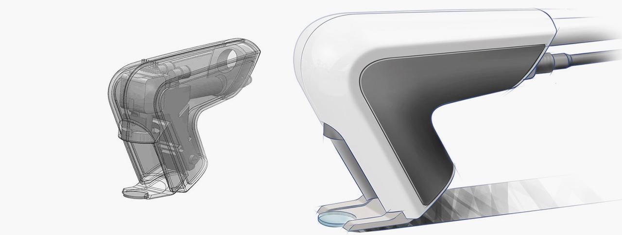 2K Kunststoffgehäuse für ergonomisches Laserhandstück