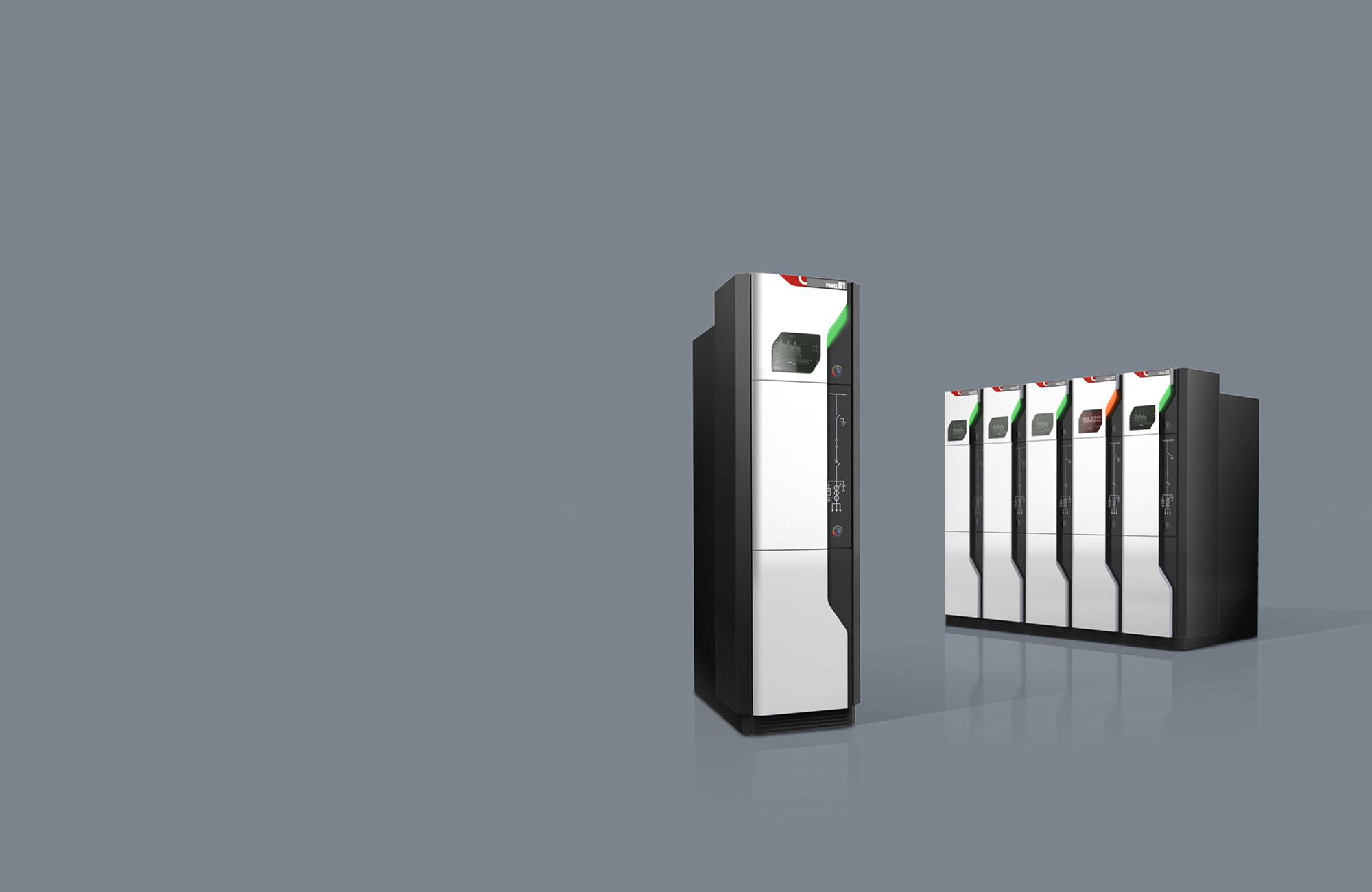 Designrendering Mittelspannungsschaltanlage - modularer Maschinenverbund