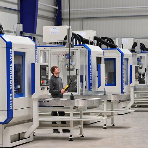 Rasoma EBZ - Maschinengehäuse - Foto in Werkhalle