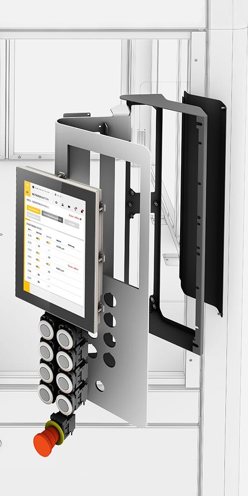 Xenon Bedienteil der modularen Montageplattform mit User Interface