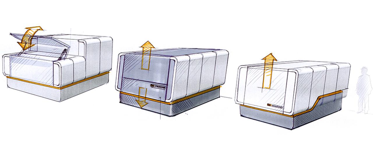Designentwicklung Designkonzept Msachineneinhausung