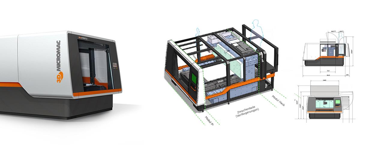 Lasermaschine MicroScribe Maschinenkonstruktion