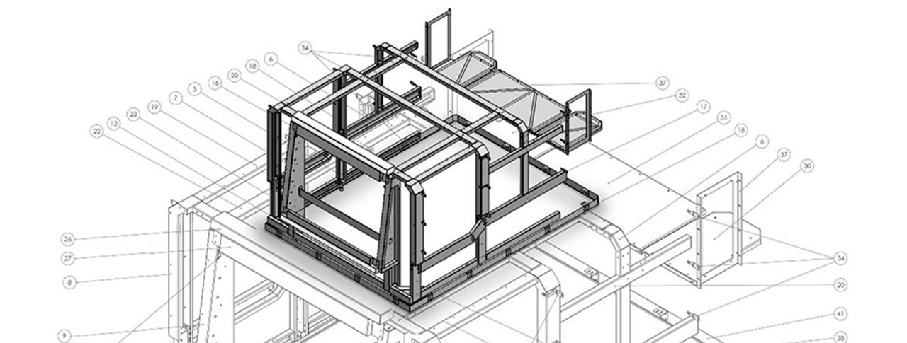 Rahmenkonstruktion Maschinendesign Lasermaschine