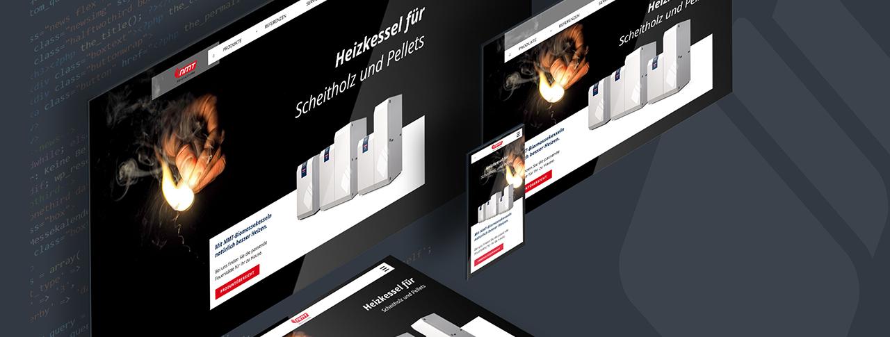 responsives Webdesign und Webdevelopment mit Content Management System